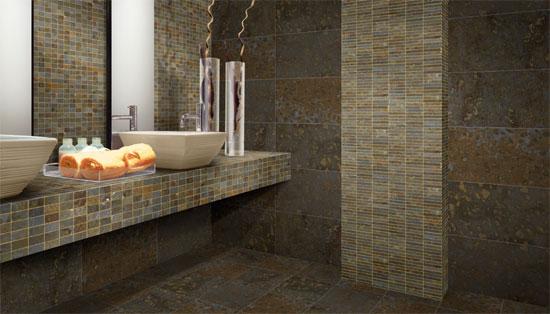 Ba o con paredes de piedra ideas para decorar dise ar y - Paredes para banos ...