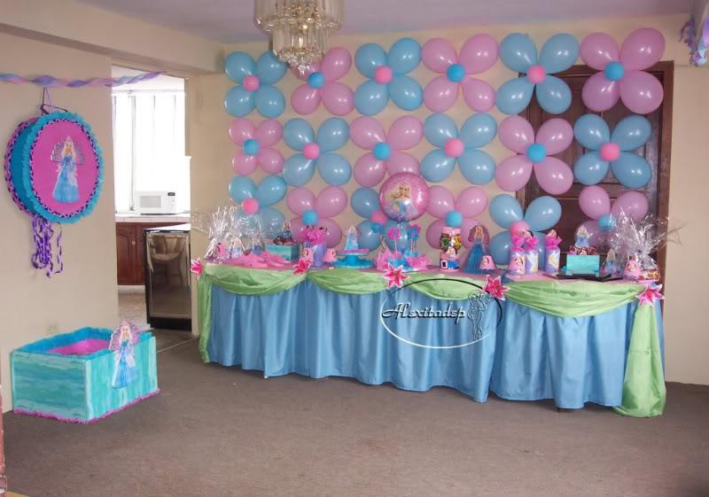 Decoración baby shower niña con globos - Imagui