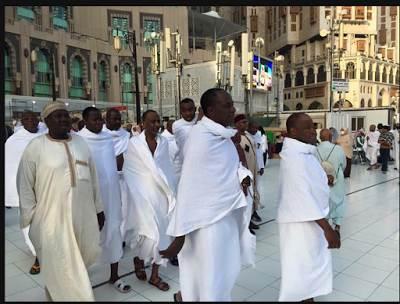Emir of Kano Sanusi Lamido goes to Mecca on holy pilgrimage.