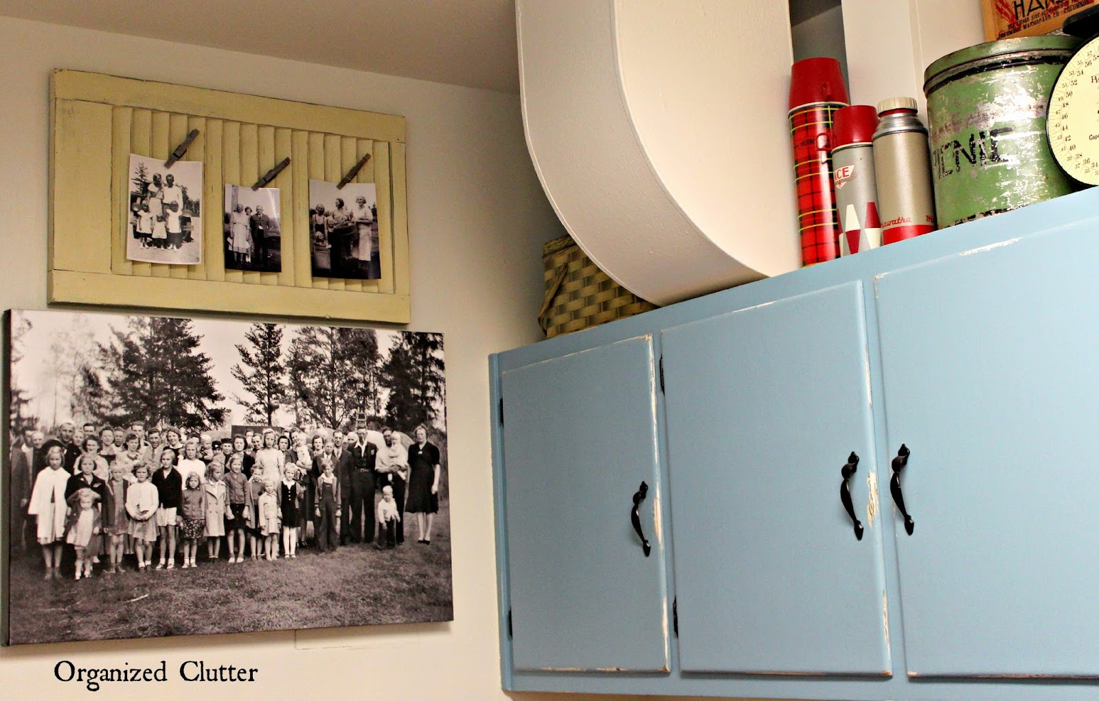 Vintage Family Photo on Canvas www.organizedclutterqueen.blogspot.com