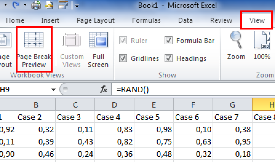 Page Break 2010 Excel Add Page Breaks in Excel