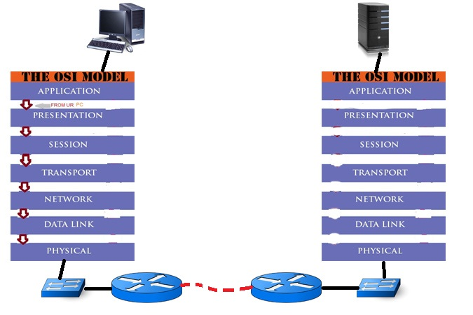 the osi model and the pony express The seven layers of the osi reference model can be divided into two categories: upper layers and lower layers the upper layers of the osi model deal with application issues and generally are implemented only in software.