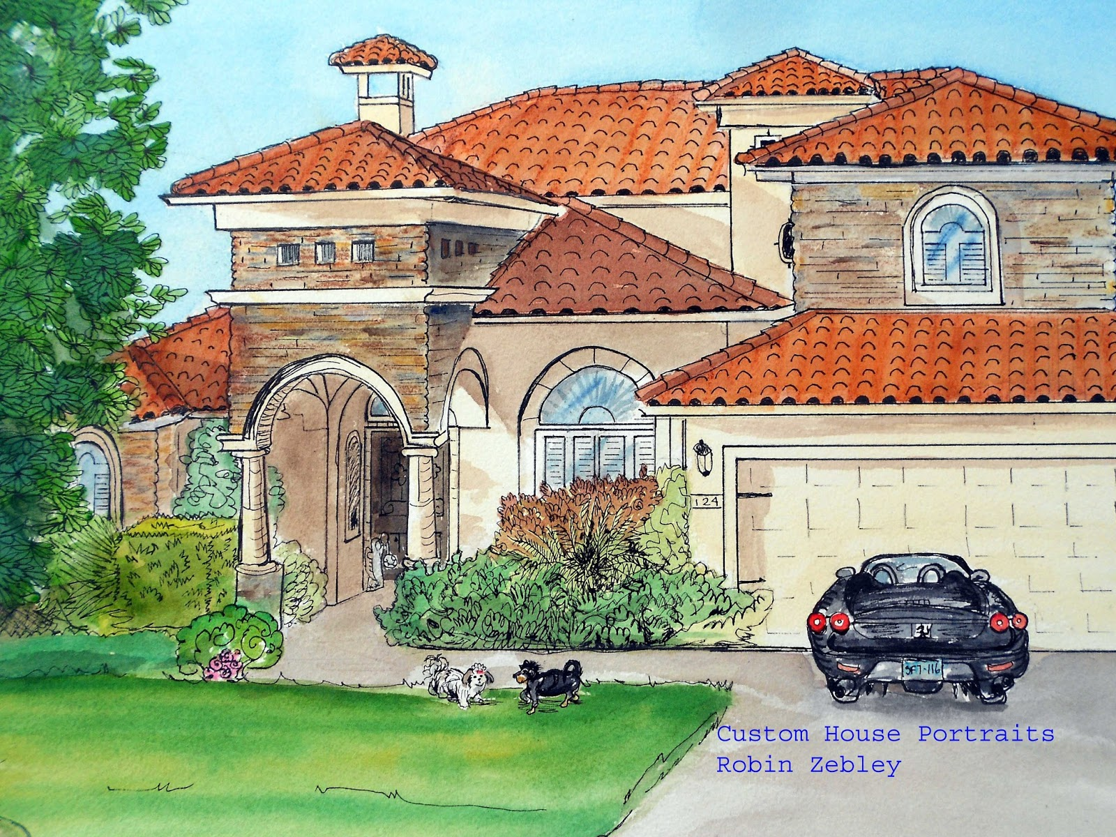 House Paintings paintings of houses in watercolor and inkme, artist robin