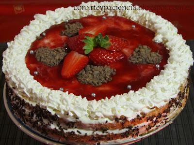 tarta romántica fácil