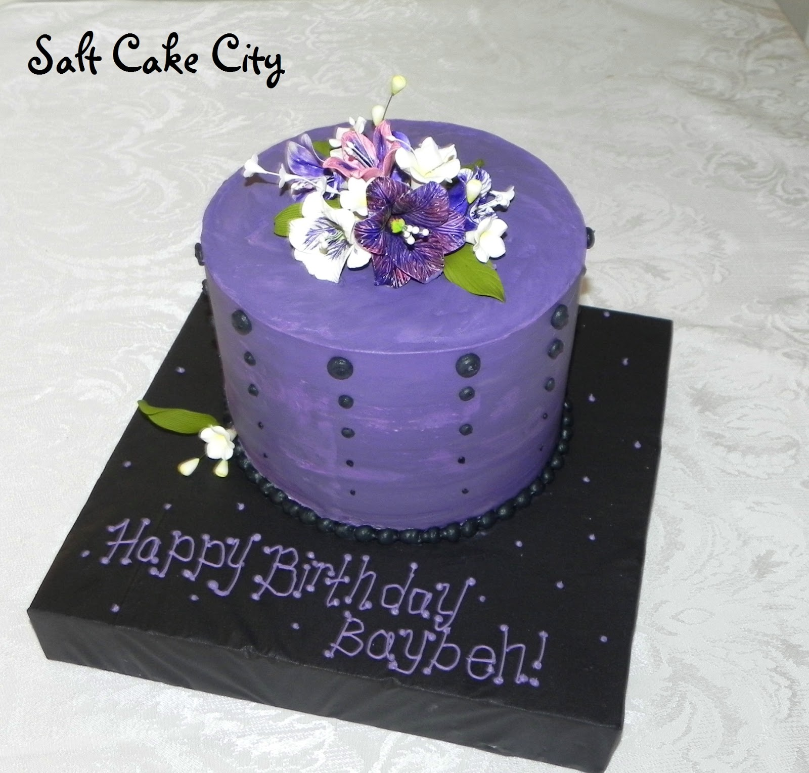 Salt cake city purple zebra and flowers izmirmasajfo