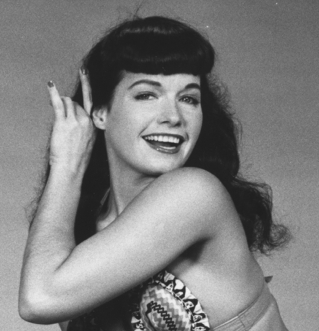 Bettie Page bikini smile