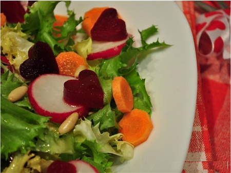 Ensaladas romanticas ideas para la cena for Decoracion de ensaladas