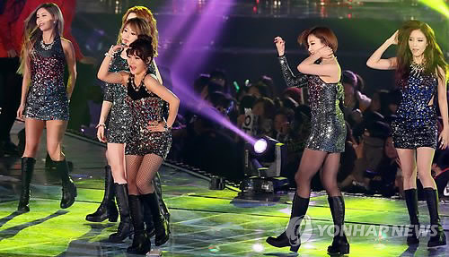 Foto T-ara Perform di Melon Music Awards 2012