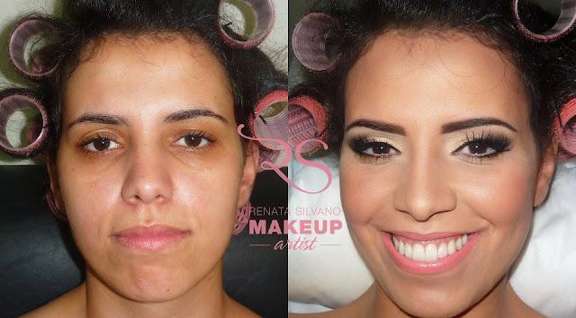maquiagem antes e depois