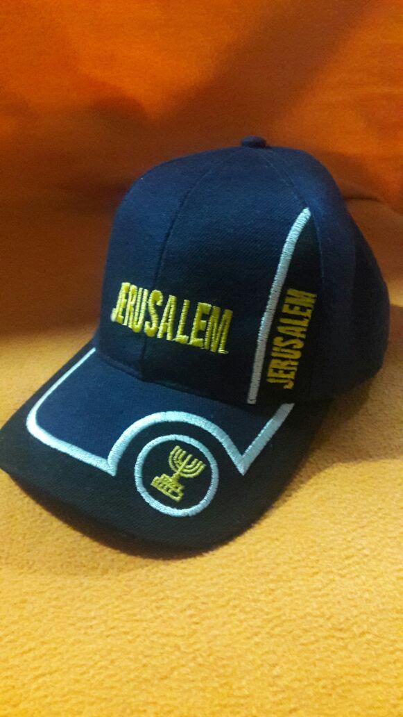 Gorra azul Jerusalém