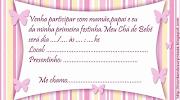 Convite Chá de bebê delicadogratuito. Esse modelo abaixo é gratuito para .