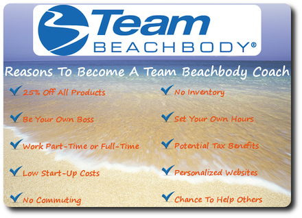 Benefits to becoming a Beach Body Coach
