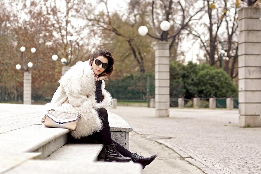 cappotto bianco mongolia fay - irene buffa