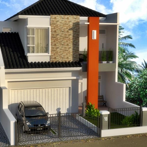 Bangunan : Rumah 2 Lantai LB 200 M2