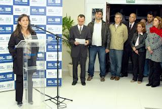 Secretário de Desenvolvimento Econômico, Eduardo Breder, participa da cerimônia de inauguração