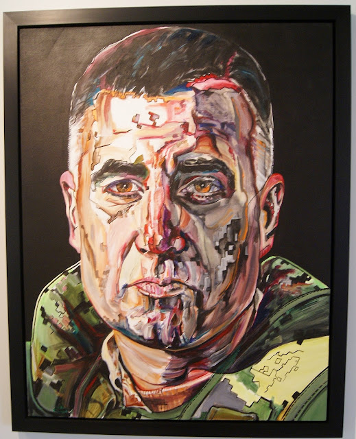 Gertrude Kearns: The Art of Command: Portraits and Posters of Canada's Afghan Mission Exhibit at Historic Fort York in Toronto, art, artmatters, culture, military, the purple scarf, officers, melanie.ps, ontario, paintings, brigadier-general orner lavoie