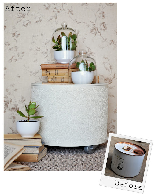 oil drum to side table