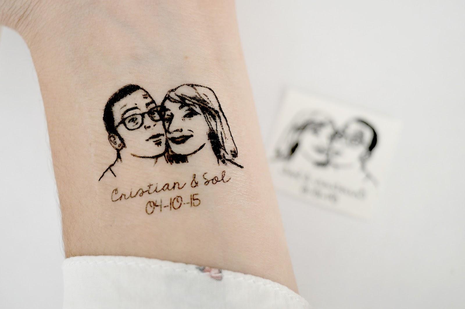 Matrimonio Tema Tatuaggi : Pearls to pigeons tatuaggio temporaneo per matrimoni
