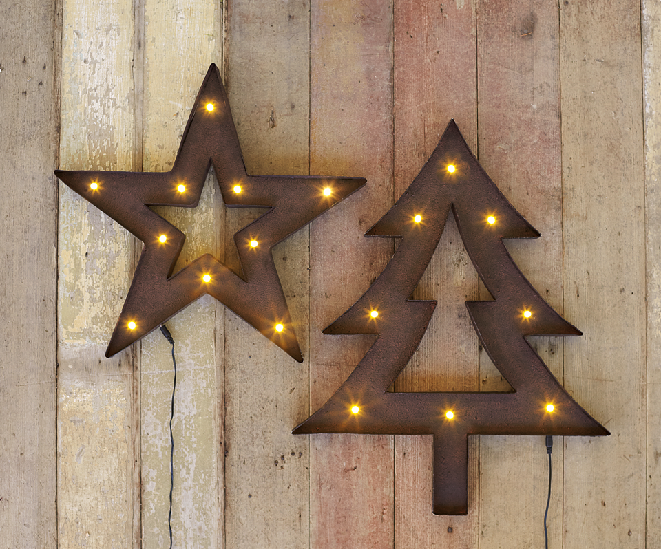Napastyle Rustic Metal Star Tree Lights