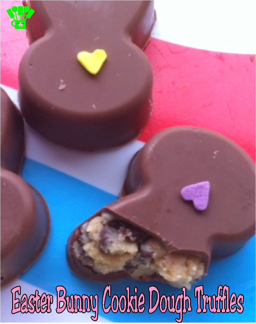 Easter Bunny Cookie Dough Truffles by Kandy Kreations