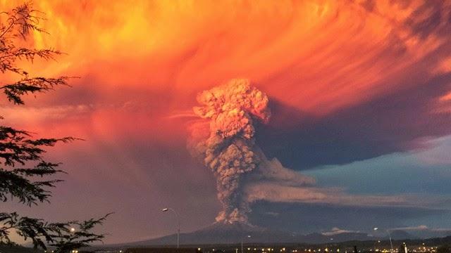 Así quedo registrada la erupción del volcán Calbuco en Chile