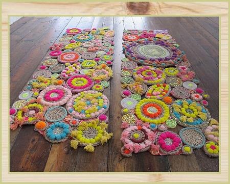 Alfombras recicladas accesorios de decoraci n - Alfombras que se pueden fregar ...