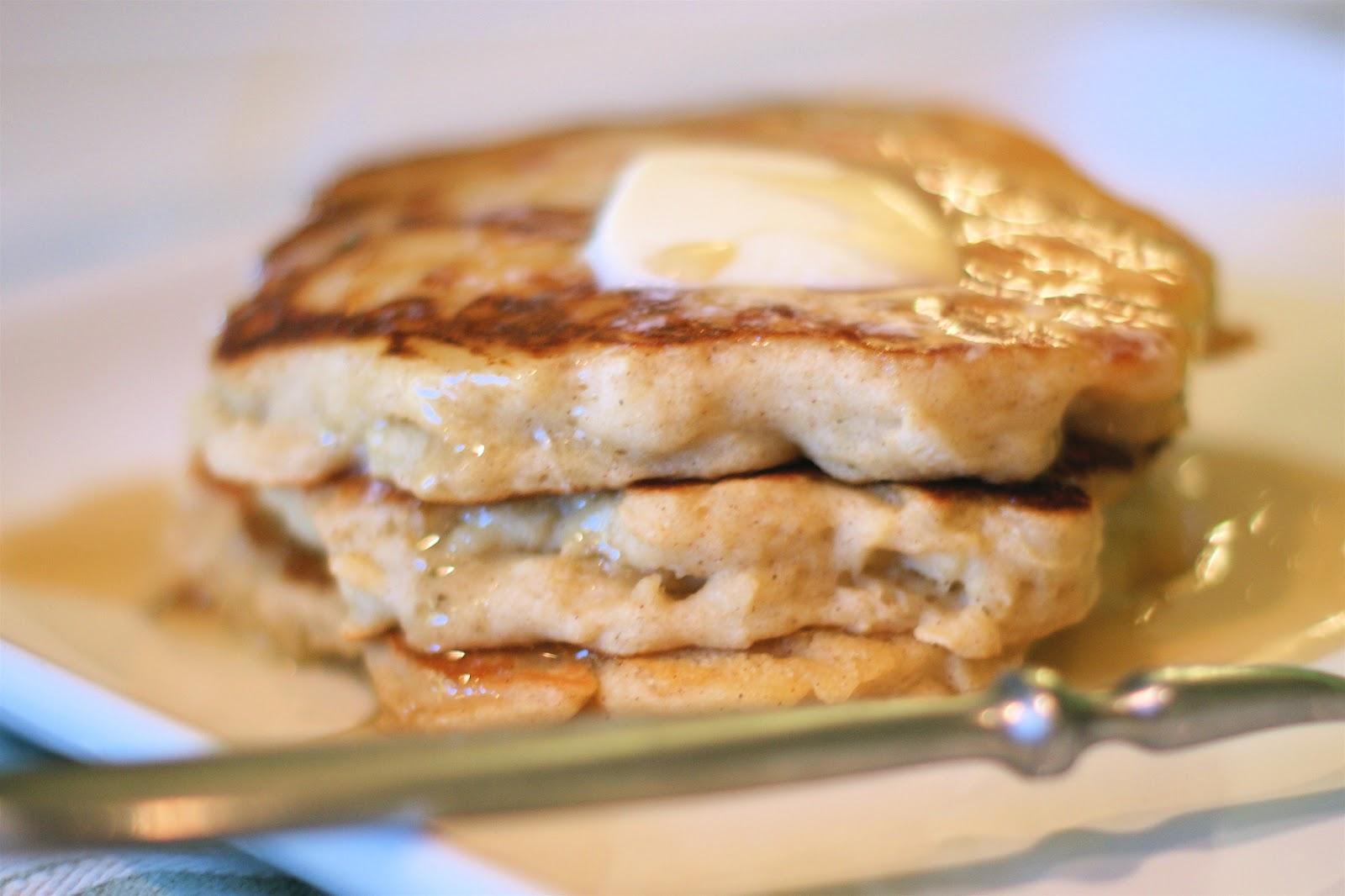 gluten free apple cinnamon pancakes - Sarah Bakes Gluten Free