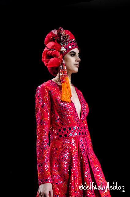 Suneet Varma Couture Headdress AIFW AW15