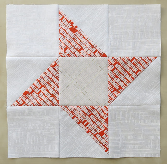 Half square triangle Quilt-Along - Block #2 - Ninja - Friendship Star