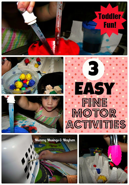 Toddler Fine Motor Activities