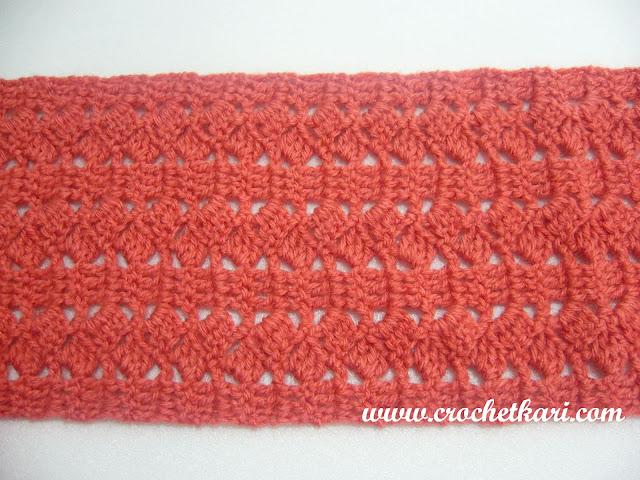 Slantnstripe scarf pattern detail