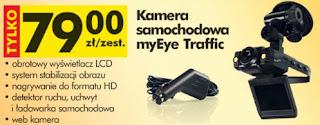 Kamera samochodowa myEye Traffic z Biedronki ulotka