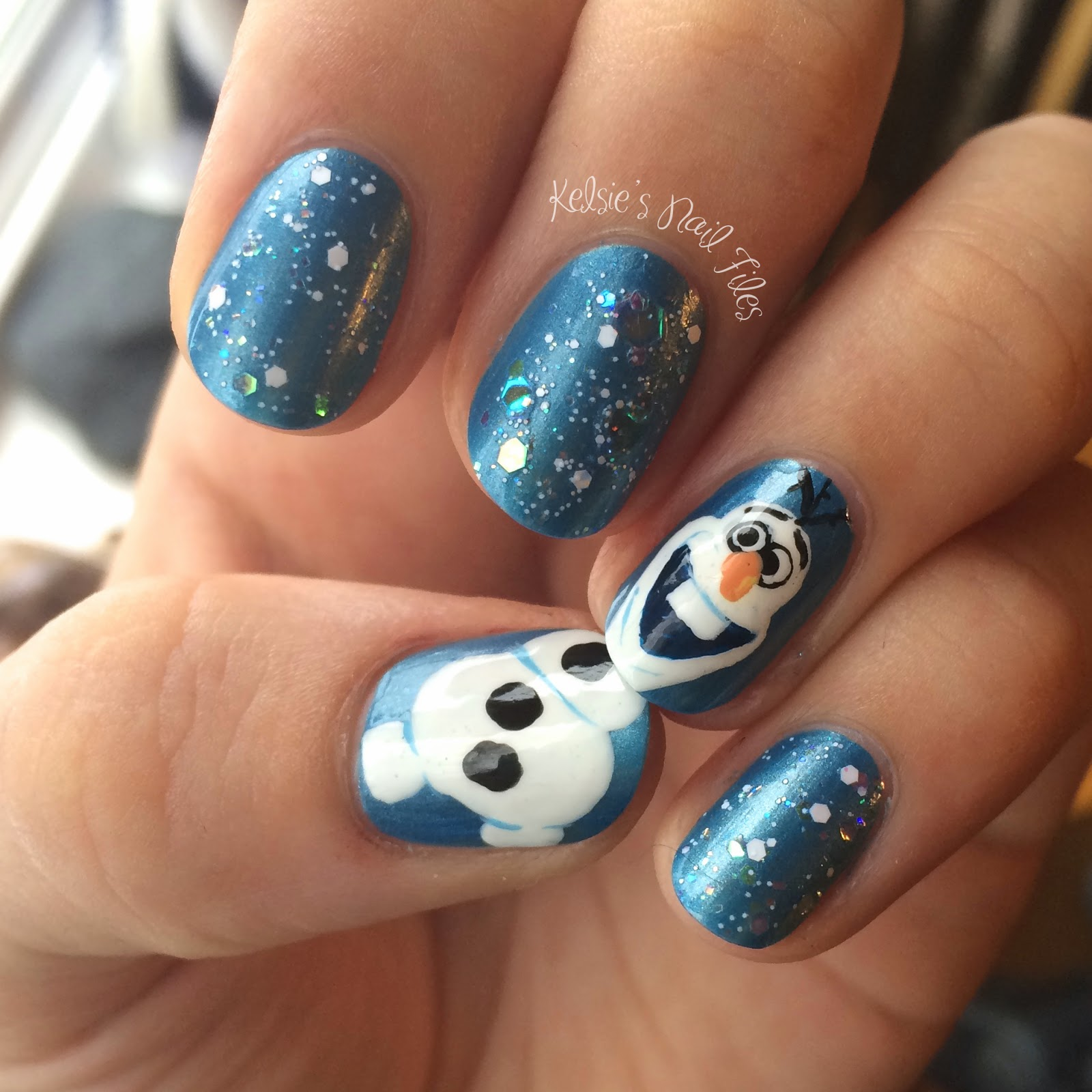 Kelsie S Nail Files Winter Art Challenge Christmas Carol