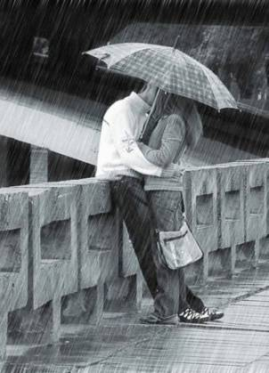 kissing in Rain Quotes Wallpapers