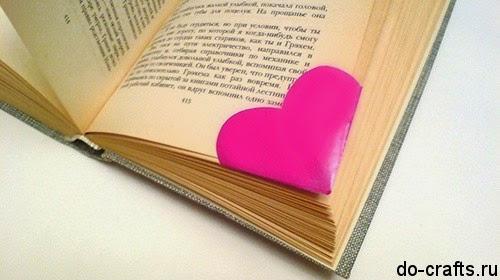 Сделать закладку сердечко для книг