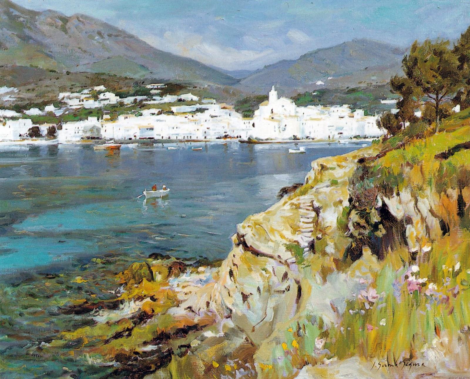 Paintings of cadaqu s josep girona segura - Pintores en girona ...