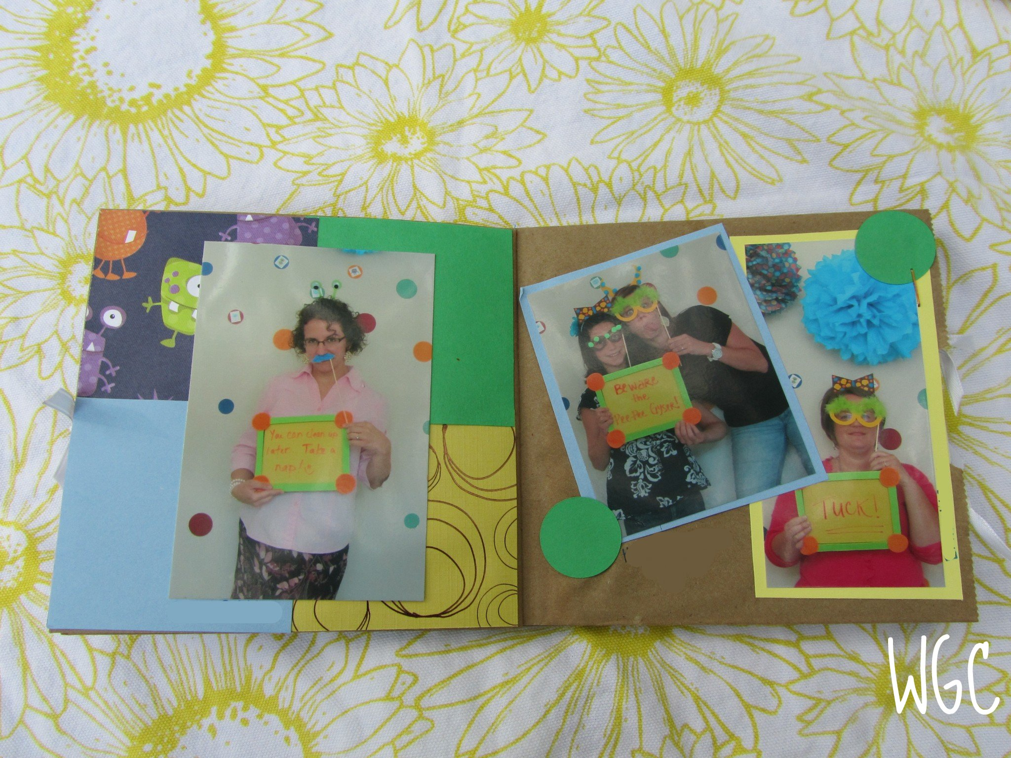 Paper bag scrapbook - Cd Of All The Pictures With A Custom Cd Case Out Of The Monster Paper