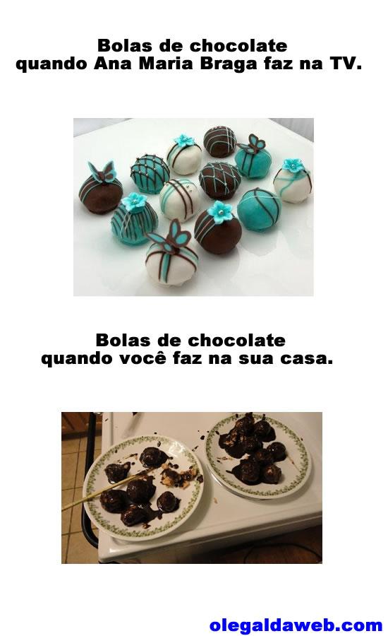 Bolas de chocolate da Ana Maria Braga