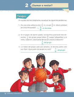 Respuestas Apoyo Primaria Desafíos matemáticos 5to grado Bloque I lección 2 Sumar o restar