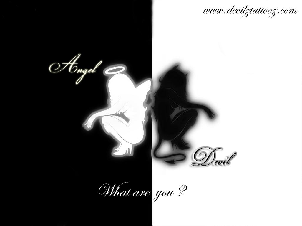 Angel Devil Drawings