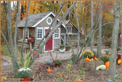 Autumn Chicken Coop via The Chicken Chick®
