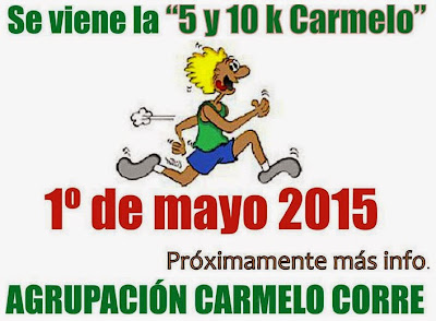 10k Carmelo (6a.ed.; Colonia, 01/may/2015)
