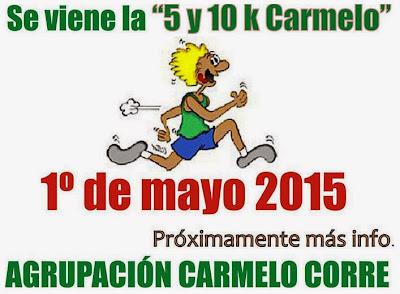 10k Carmelo (6a.ed.; Colonia, 01/may/2015)