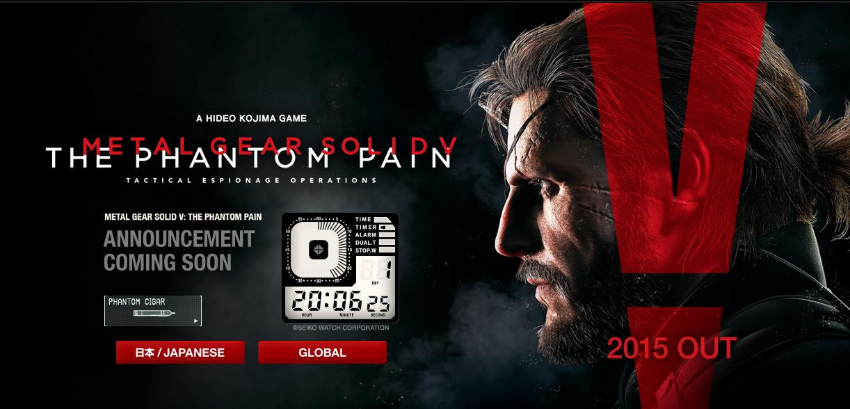 Actualización de la pagina de Metal Gear Solid V: The phantom pain