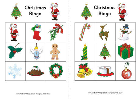 Agile image throughout holiday bingo printable