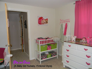 Pinterest inspired baby girl nursery