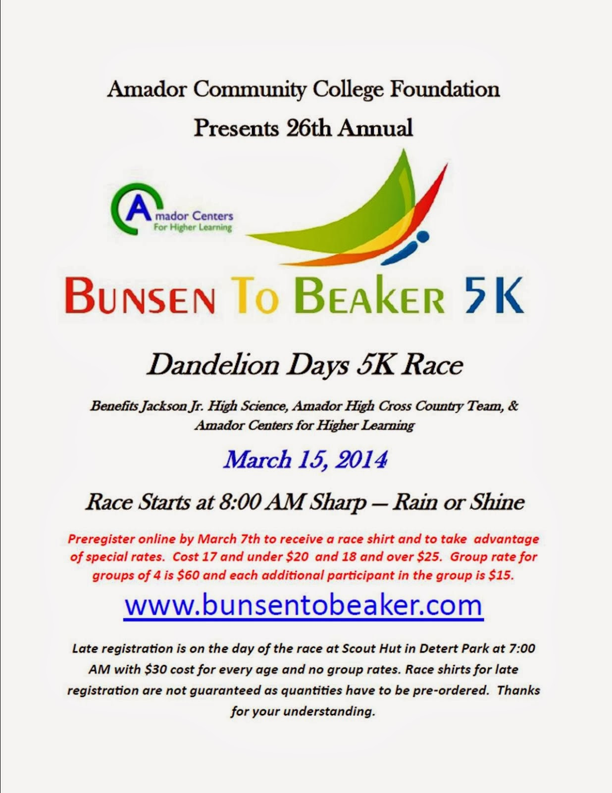 Bunsen to Beaker 5K - Sat Mar 15