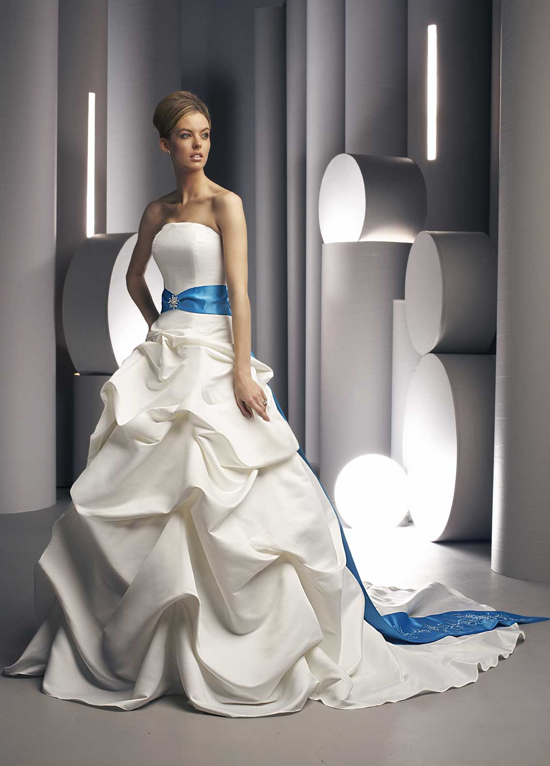 Wedding dresses with colored sash bridal evening blue sashesyou dont even need to consider where to add something blue ombrellifo Image collections