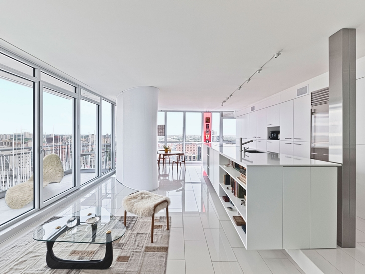 Modern kitchen in renovated Modern apartment in Ottawa