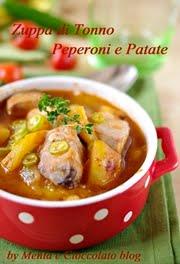 Zuppa di tonno peperoni e patate